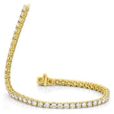 Diamond Yellow Gold Tennis Bracelet
