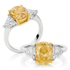 Intense Yellow Oval Cut Diamond