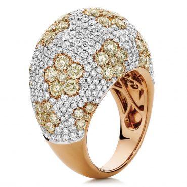 Stunning Diamond and Rose Gold Ring