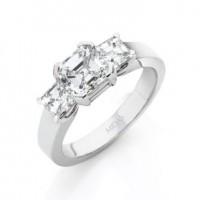 The Minimal Asscher Diamond Trilogy
