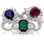 Coloured Gem Rings