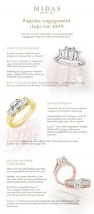 Popular engagement rings for 2019