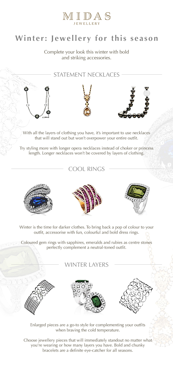 Jewellery for winter infographic