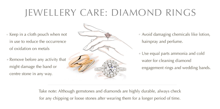 Jewellery care: Diamond rings