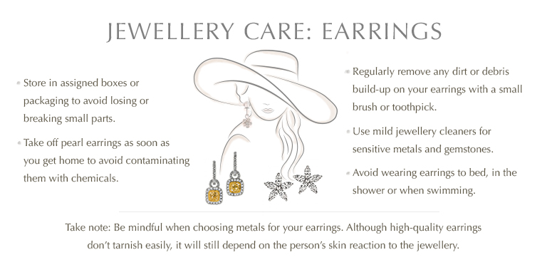 Jewellery care: Earrings