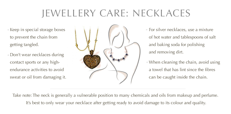 Jewellery care: Necklaces