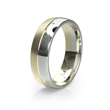 Two-toned Wedding Band (QF1007)