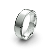 Brushed Ring with Polished Borders (QF1023)
