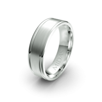 Brushed Ring with Smooth Borders (QF1036)