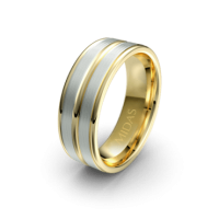 Broad Wedding Band with Polished Grooves (QF1332)