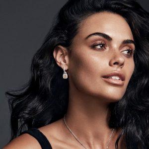 Yellow diamond earrings - Monika Clarke