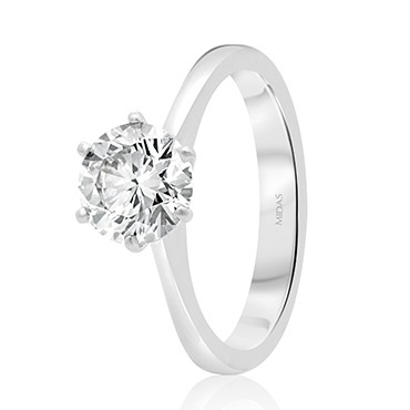 Classic Brilliant Cut Engagement Ring