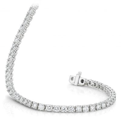 Diamond White Gold Tennis Bracelet