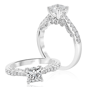 Elegant Princess Solitaire Engagement Ring