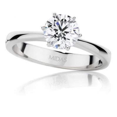 Dazzling Round Brilliant Cut Solitaire Ring