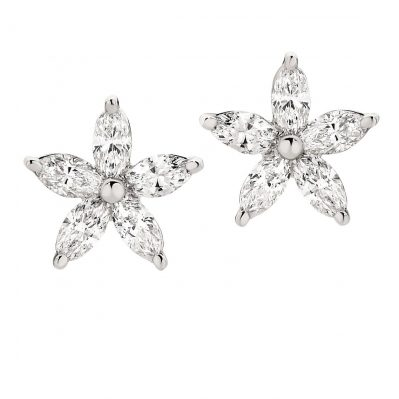 Elegant Set with Marquise Diamond earrings