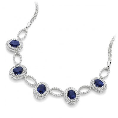 Oval Sapphire Necklace