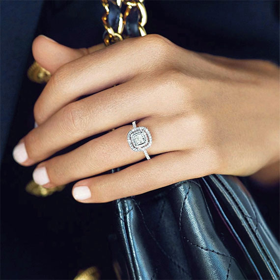 What makes the princess cut engagement ring one of the most popular styles?