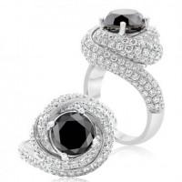 Midnight Black Pavé Diamond Ring