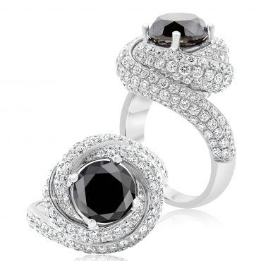 Midnight Black Pavé Diamond Ring