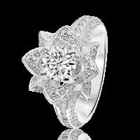 Round Brilliant Diamond Flower with Split Band