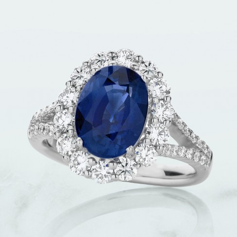 Customise a Blue Sapphire Engagement Ring