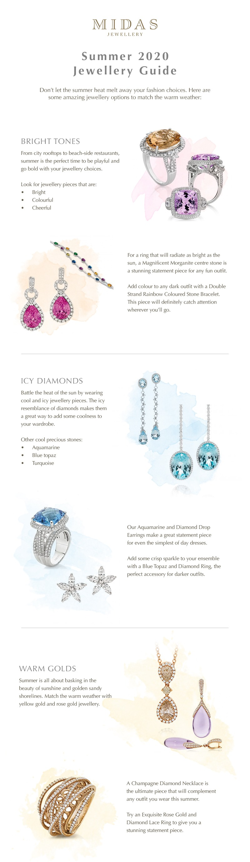 Summer 2020 jewellery guide infographic