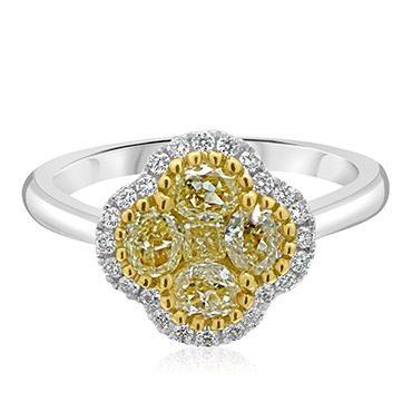 Fancy Yellow Diamond Clover