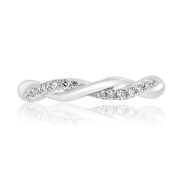 Polished Diamond Twist Band