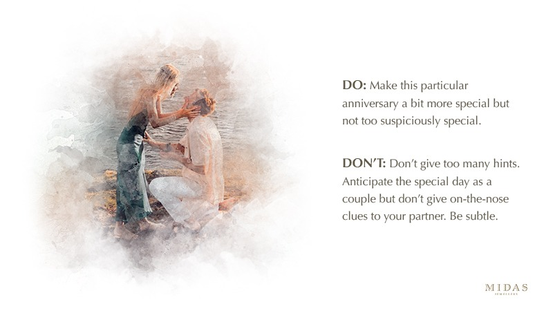 Anniversary proposal do's and don'ts
