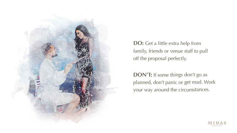 Holiday proposal do's and don'ts