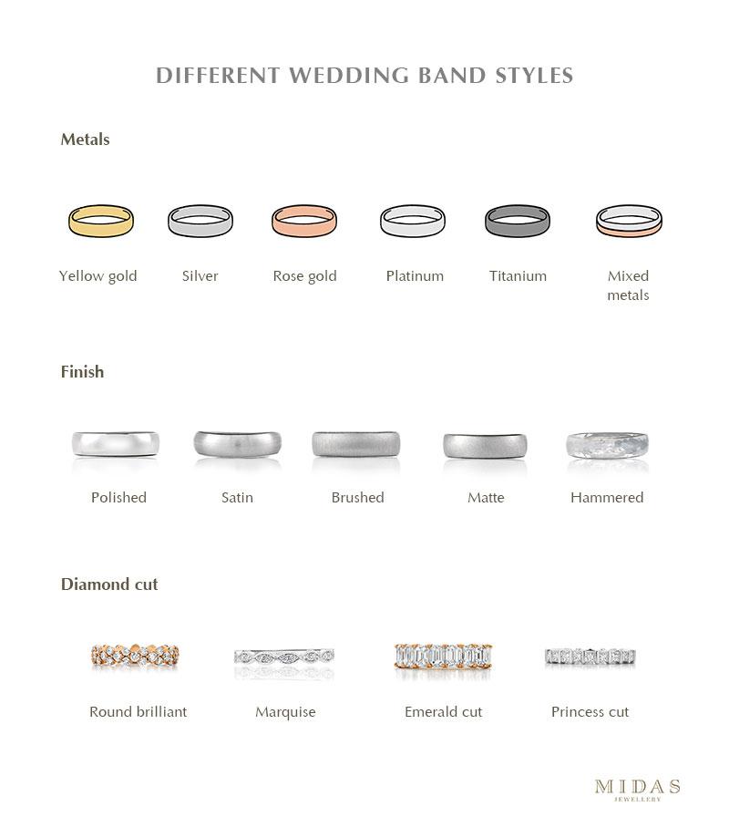 Wedding band styles