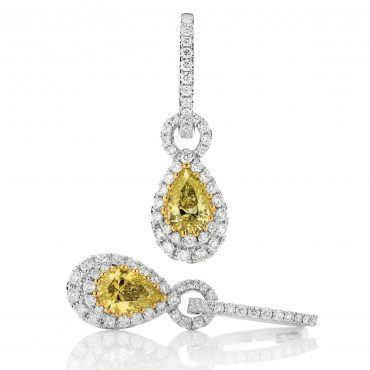 Yellow Pear Diamond Drops