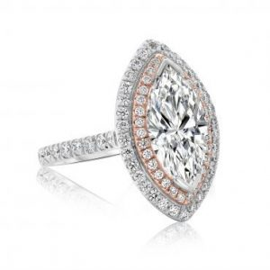Marquee Diamond with Brilliant Halo