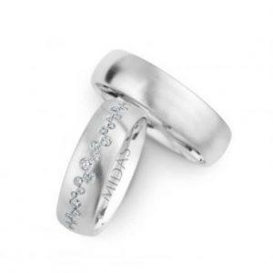 White Gold - 246929 Women's & 270429 Men's Wedding Bands
