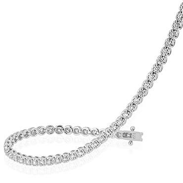 Elegant Round Brilliant Diamond Tennis Bracelet
