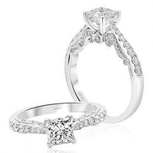 Elegant Princess Solitaire Engagement Ring