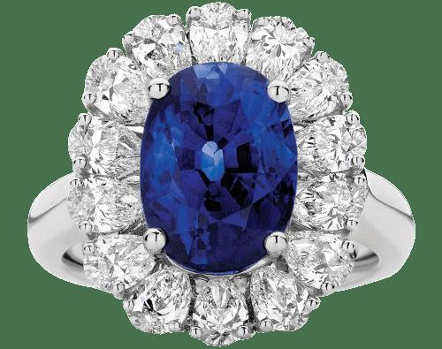 Blue Sapphire & Diamond Rings