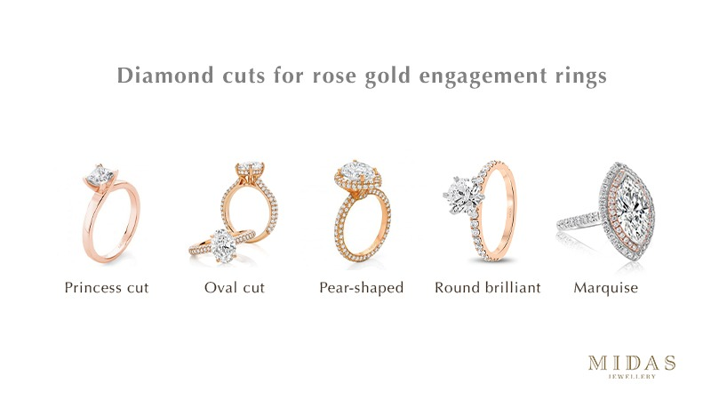 Diamond cuts for rose gold engagement rings