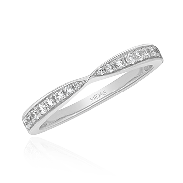 Pinched Diamond Grain Band