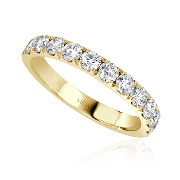 Round Cut Diamond Wedding Band