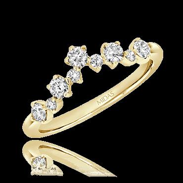 Dainty Crown Round Cut Diamond Ring