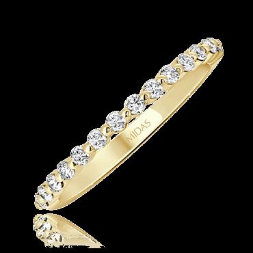 Dainty Round Cut Wedding Ring