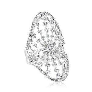 Diamond Ray Shield Ring