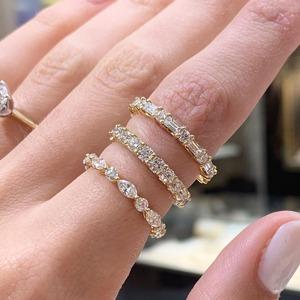 Wedding bands for vintage engagement rings