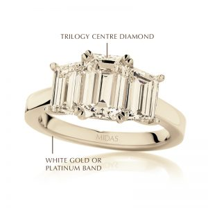 Emerald Cut Diamond Trilogy