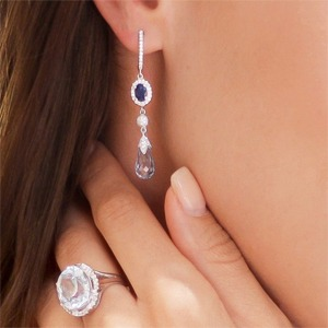 Add a hint of blue with earrings