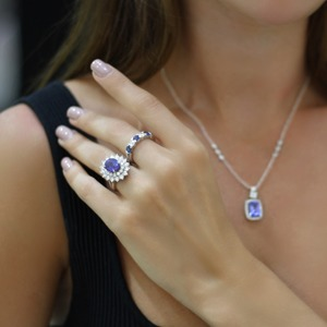 Incorporating blue with dress rings