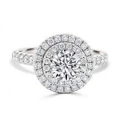 Double Halo Brilliant Engagement Ring