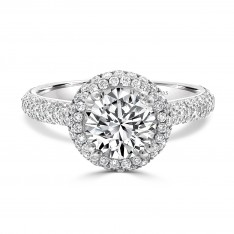 Round Brilliant Dazzling Halo Engagement Ring